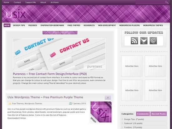 Usix - wordpress theme with premium features